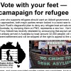 Vote with your feet —campaign for refugee rights!