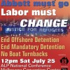RALLY to CHANGE Labor's cruel refugee policy – at ALP National Conference, 12pm Sat July 25