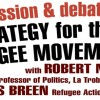 6:30pm 3 Oct | Discussion & debate on Strategy for the Refugee Movement
