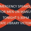 TODAY 5:30pm |Emergency speak out: Manus men under attack