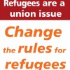 Change the rules for refugees flyer