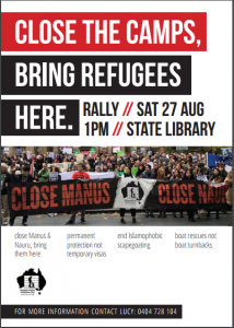 August 27 rally image